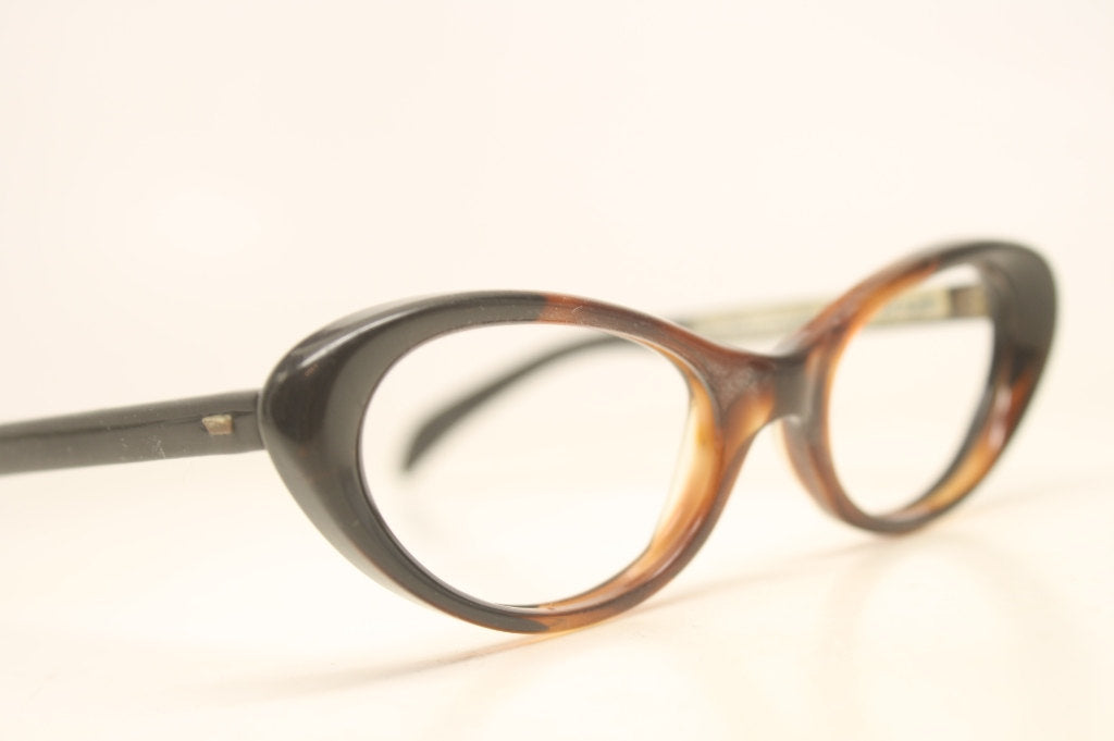 Tortoise Black Cat Eye Eyeglasses Vintage Eyewear Retro Glasses Cat Eye Frames