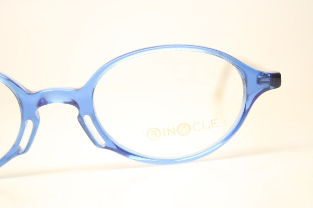 Oval Glasses Frames Vintage Colorful Blue 1980s Retro Eyeglasses