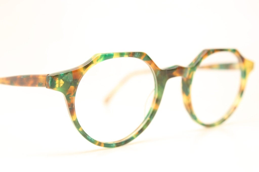 Vintage Eyeglass Frames P3 Unique Colorful 1980s Retro Eyeglass Frames
