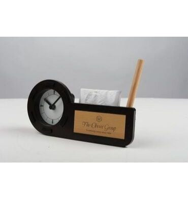 Pen stand with a watch