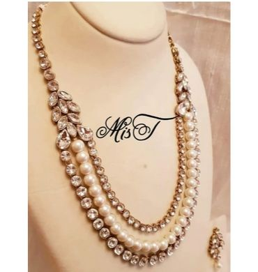 3 layer formal necklace set