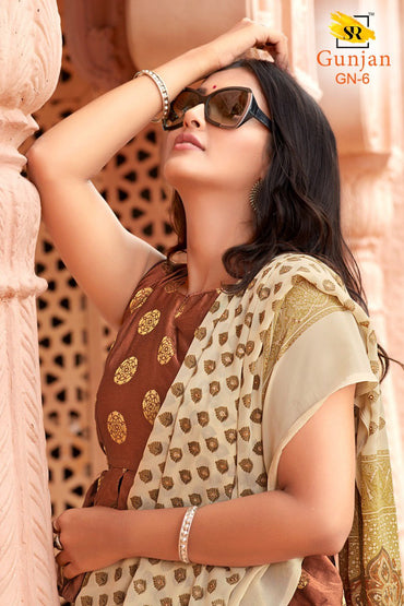 Gunjan Saree with Jequard blouse