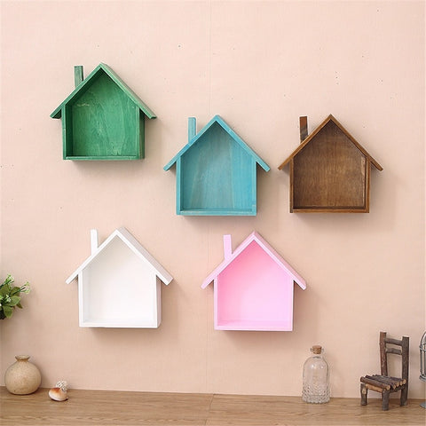Creative Wooden Wall Decor Retro Village Colored