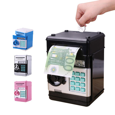 Electronic Piggy Bank Safe Box Money Boxes for Children Digital Coins Cash Saving Safe Deposit ATM Machine Kid Christmas Gift
