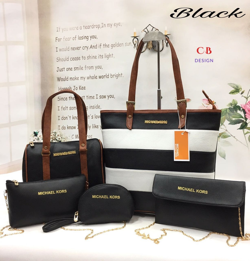 Leather Bag Combo Set