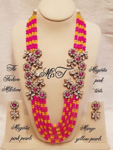 Layered beads elegant necklace set