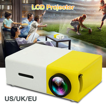 Mini Pocket Projector 600Lumens 1080P HDMI LED Projector Beamer YG300 Video Projectors Media Player For Laptop PC Devices