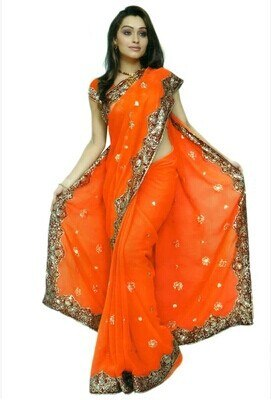 Indian clothing Embroidery Saree