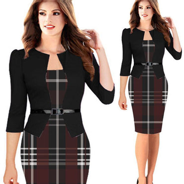 Women Sexy Slim Office Pencil Bodycon Dress