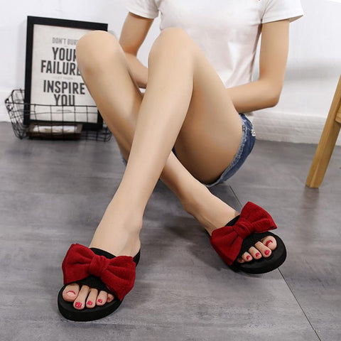 Women Bow Summer Sandals Slipper
