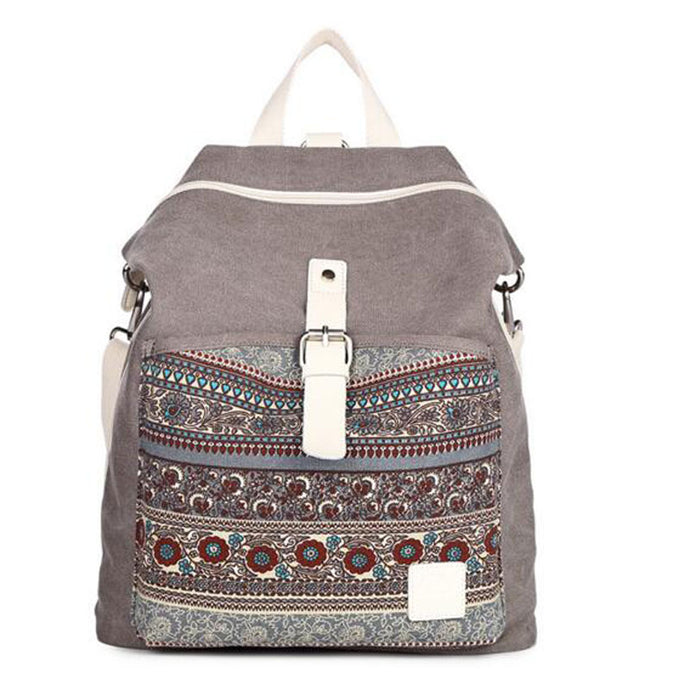 Tribal Ethnic Canvas Backpack