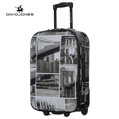 DAVIDJONES wheel travel suitcase