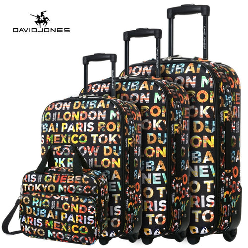 DAVID JONES wheel travel suitcase- 4 piece set