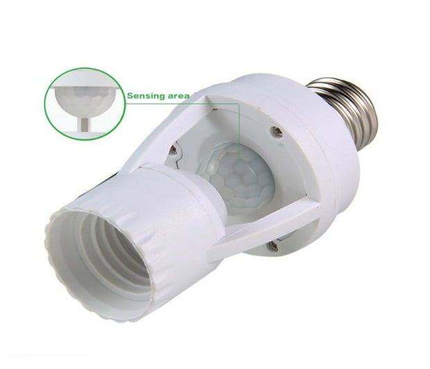 Infrared Motion Sensor Lamp Holder