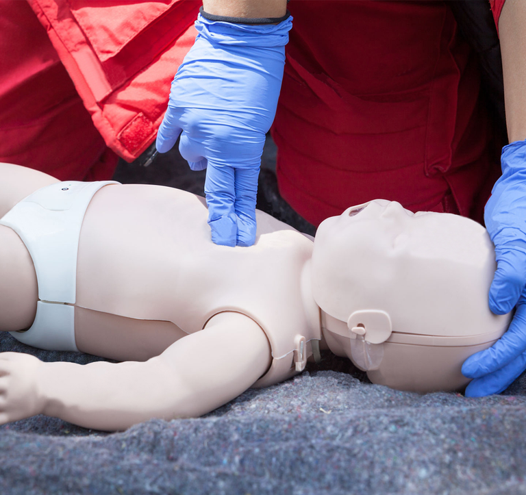 Tools for medical training simulations - CPR Baby