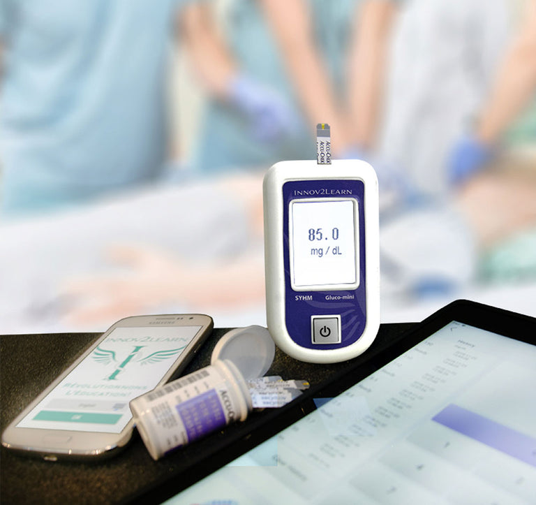 Devices for medical training simulations - SYHM: Mini- Glucometer.