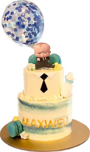 Boss Baby Cake (White Base)