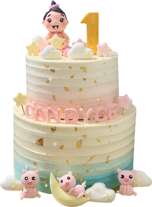 Dreamy Piggies Cake (Year of the Pig Birthdays)