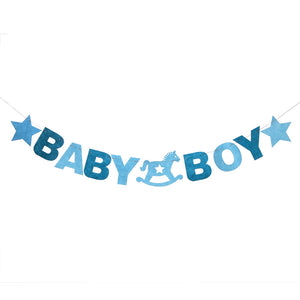 Copy of Baby shower boy- felt material banner