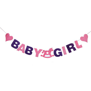 Baby shower girl- felt material banner