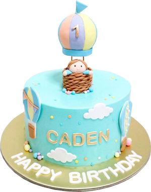 Hot Air Balloon Cake - Boy