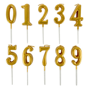 Number candle (gold)