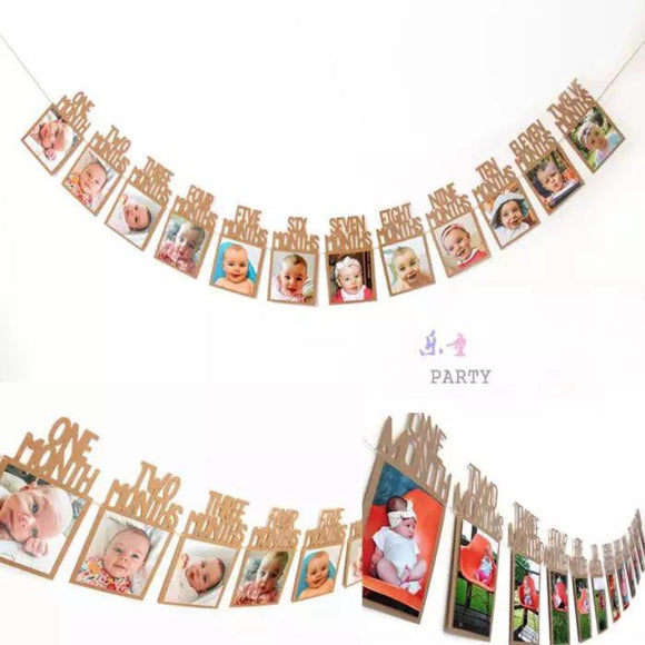 Baby 12 month photo display