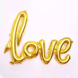 Love foil balloon- Gold