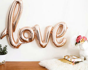 Love foil balloon- Rose Gold