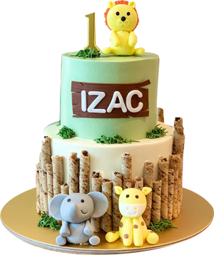 Safari Animal Cake