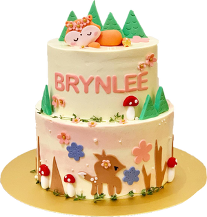 Woodlands Animals Cake