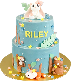 Woodlands Animal Cake Blue