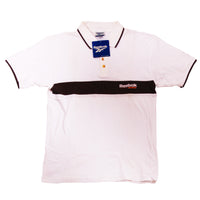 REEBOK WORKOUT  POLO COTTON PIQUE 100% DEADSTOCK 1990 - ALMACENESLÓPEZ