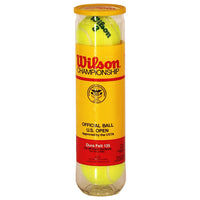 WILSON CHAMPIONSHIPS Nº3 TENNIS BALLS 4 PIECES UNOPENED TUBE  OFFICIAL US OPEN  DEADSTOCK 1990 - ALMACENESLÓPEZ