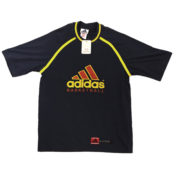 ADIDAS L.A. BASKETBALL T SHIRT 1990 DEADSTOCK 100%COTTON - ALMACENESLÓPEZ