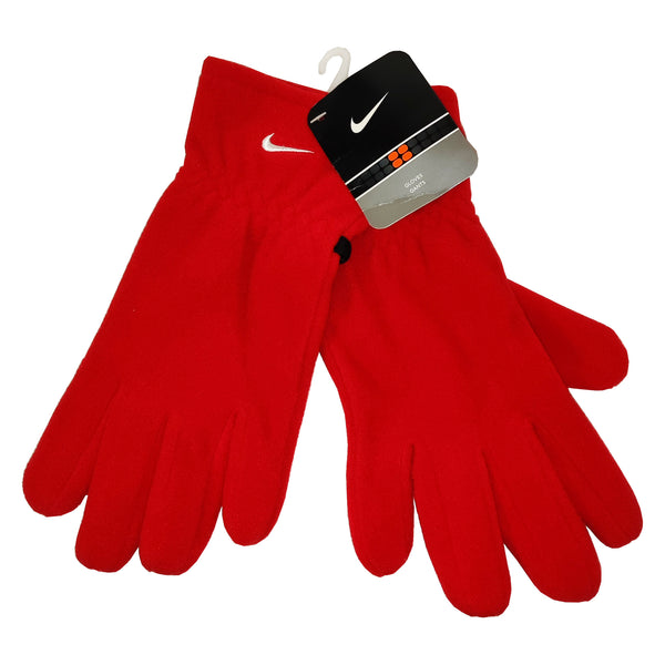 FLEECE GLOVES NIKE RED SIZE M NEW DEADSTOCK 1999 - ALMACENESLÓPEZ