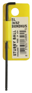 "BONDHUS  SBL3/32 STUBBY LONG SERIES BALLEND HEX KEY, 3/32"", 16505"