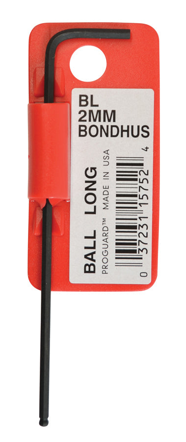 BONDHUS  BL2.5 BARCODED BALLEND HEX KEY, 2.5MM, 15754