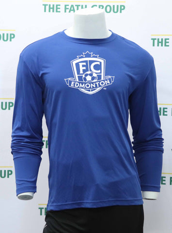 FC Edmonton Long Sleeved Logo Shirt (Blue)