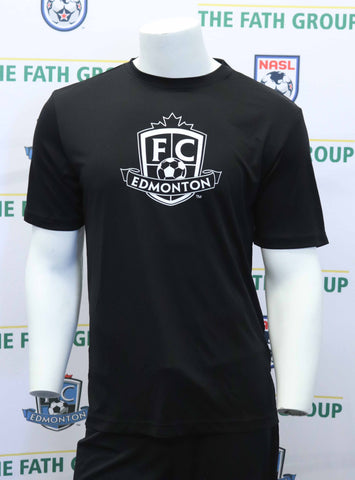 FC Edmonton Short Sleeve Logo T-Shirt ( Black )