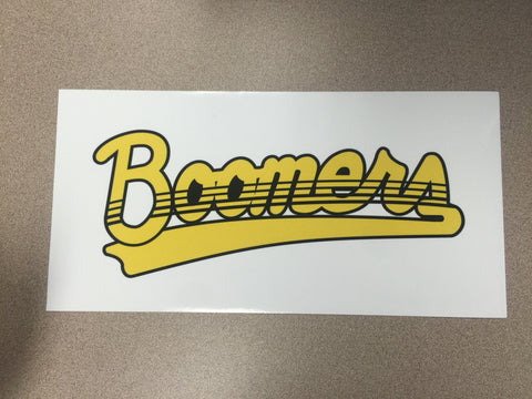 Calgary Boomers Decal