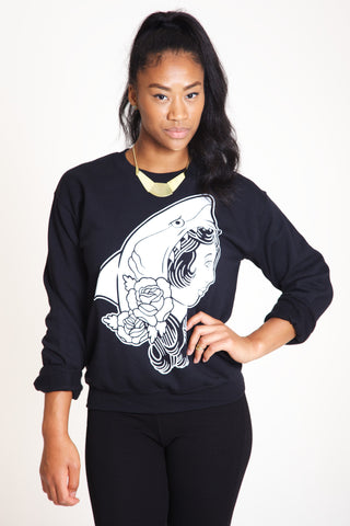 Sharkgirl Crewneck Sweatshirt