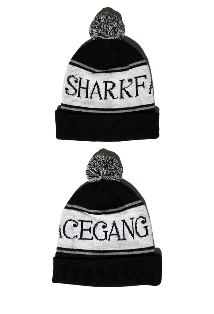 Shark Face Gang Pom Beanie