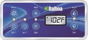 Balboa Panel VL701S W/10430 Overlay (2 Jets/Blower)  53189-01 - Hot Tub Outfitters