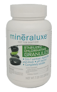 Mineraluxe Stabilized Chlorine Granules 200 gram - Hot Tub Outfitters