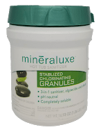 Mineraluxe Stabilized Chlorine Granules 480 gram - Hot Tub Outfitters