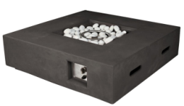 Nash Square Fire Pit Dark Grey  (presale now for February 2021 arrival) - Hot Tub Outfitters