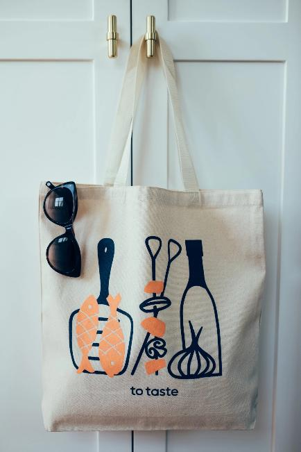 To Taste illustrated tote bag, by Alisa Bloom