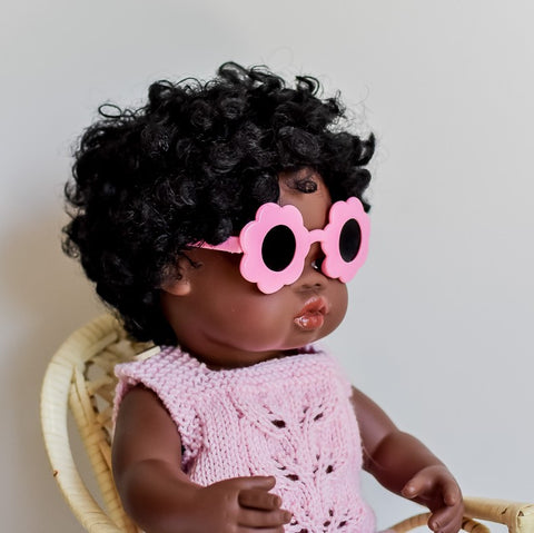 Light Pink: Dolls Flower Sunglasses