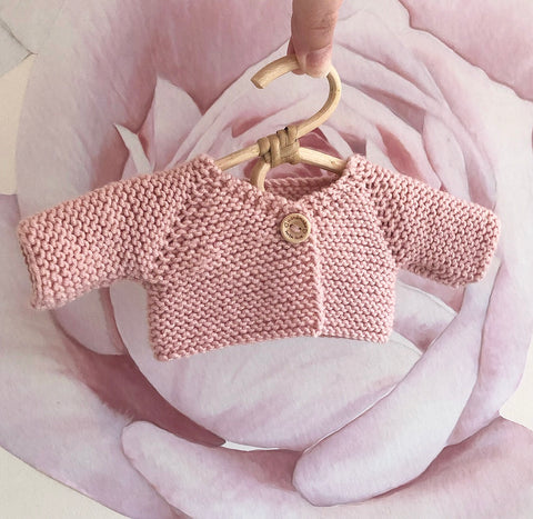 ON SALE Ready to ship // Knit V Neck Cardigan (38cm Miniland, Dinkum Doll & Minikane)